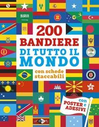 200 bandiere di tutto il mondo con schede staccabili