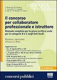 Il concorso per collaboratore professionale e istruttore