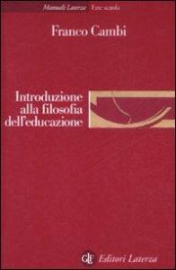 Introduzione alla filosofia dell'educazione