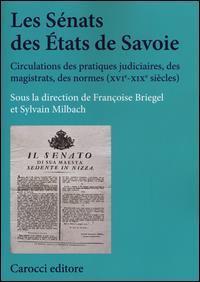 Les sénats des états de Savoie