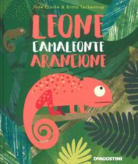 Leone, camaleonte arancione