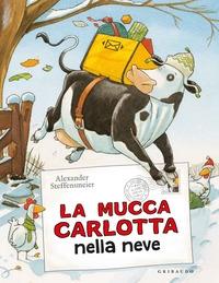 La mucca Carlotta nella neve