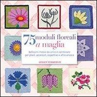 75 moduli floreali a maglia