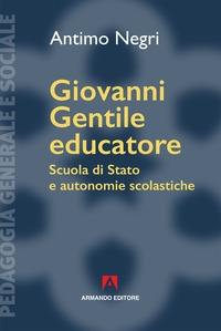 Giovanni Gentile educatore