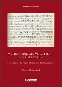 Musikedition als Vermittlung und Übersetzung