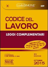 Codice del lavoro, leggi complementari