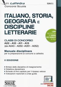 Italiano, storia, geografia e discipline letterarie