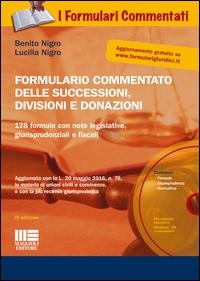 Formulario delle successioni, divisioni e donazioni