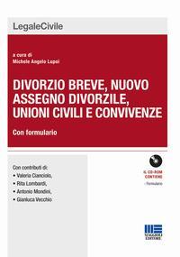 Divorzio breve, nuovo assegno divorzile, unioni civili e convivenze