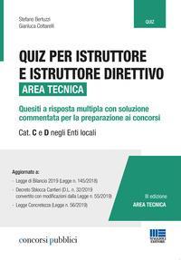 Quiz per istruttore e istruttore direttivo