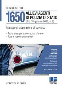 Concorso per 1650 allievi agenti di Polizia di Stato (G.U. 31 gennaio 2020, n.9)