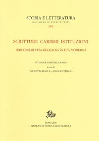 Scritture carismi istituzioni
