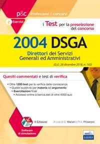 I test del concorso per 2004 DSGA
